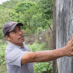 Eine Möglichkeit Chagas zu verhindern ist die Wände zu verputzen. / DAHW